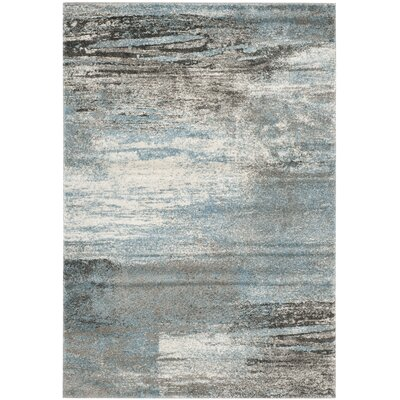 Tahoe Gray / Light Blue Area Rug Rug Size: Rectangle 51 x 76