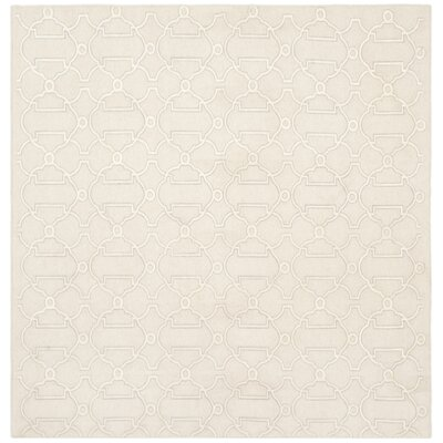 Dhurries Beige Area Rug Rug Size: Square 6