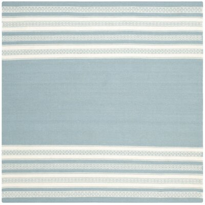 Dhurries Turquoise Area Rug Rug Size: Square 6