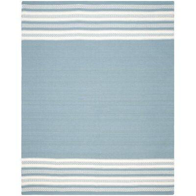 Dhurries Turquoise Area Rug Rug Size: 8 x 10