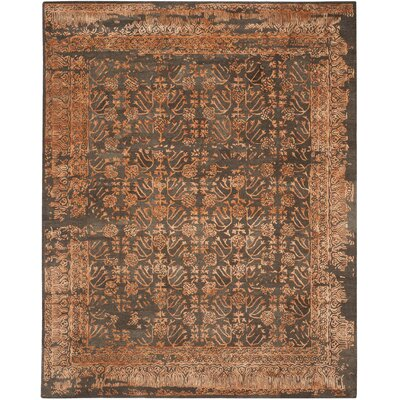 Sapphire Light Brown/Rust Area Rug Rug Size: 8 x 10