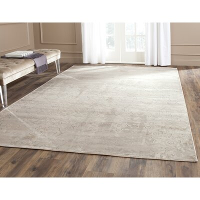 Vintage Gray/Ivory Area Rug Rug Size: Rectangle 67 x 92