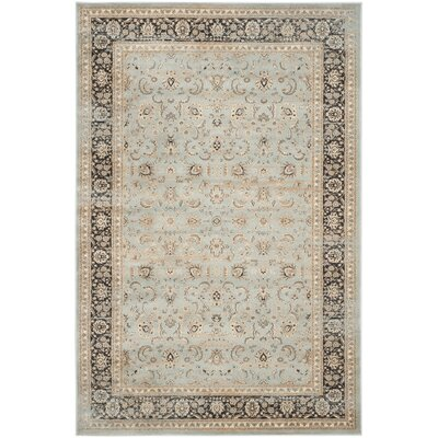 Vintage Stone Blue/Black Area Rug Rug Size: Rectangle 67 x 92