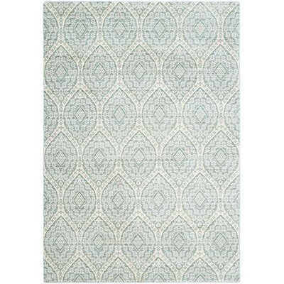 Longeville Bright Alpine/Cream Area Rug Rug Size: Rectangle 3 x 5