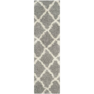 Charmain Gray Area Rug Rug Size: Runner 23 x 8