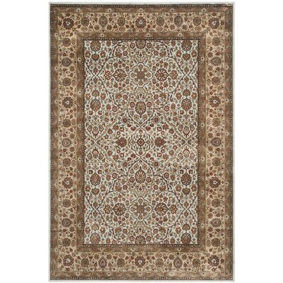 Petronella Light Blue/Ivory Area Rug Rug Size: Rectangle 8' x 10'