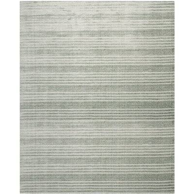 Alaina Hand-Knotted Blue Area Rug Rug Size: Rectangle 8 x 10