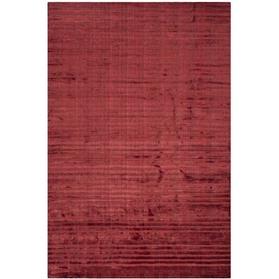Mirage Red Area Rug Rug Size: Rectangle 6' x 9'