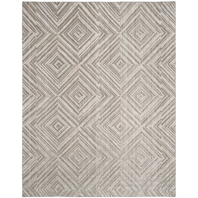 Mirage Gray Area Rug Rug Size: Rectangle 9 x 12