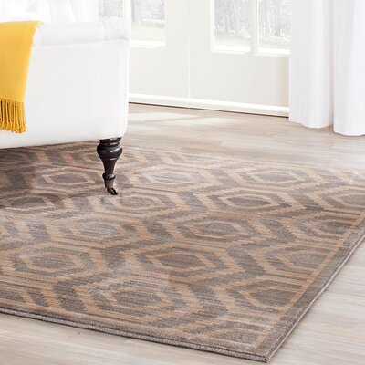 Infinity Geometric Gray/Beige Area Rug Rug Size: Rectangle 8 x 10