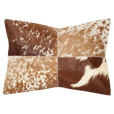 Selmacowhide Decorative Suede Lumbar Pillow