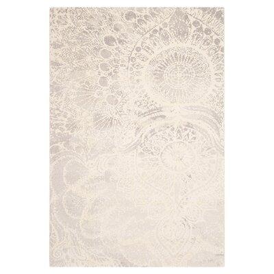 Safavieh Porcello Light Grey / Ivory Contemporary Rug - Rug Size: 4' x 5'7