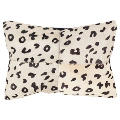 Beau Cow Hide Suede Lumbar Pillow