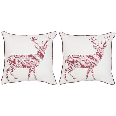 Paisley Reindeer Throw Pillow