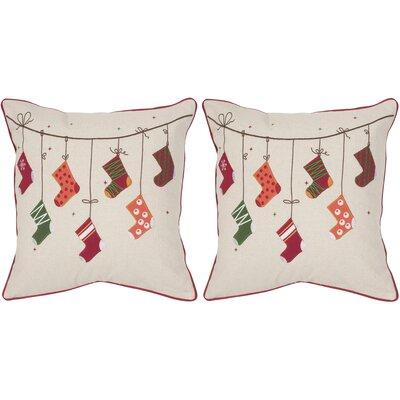 Holiday Stockings Throw Pillow