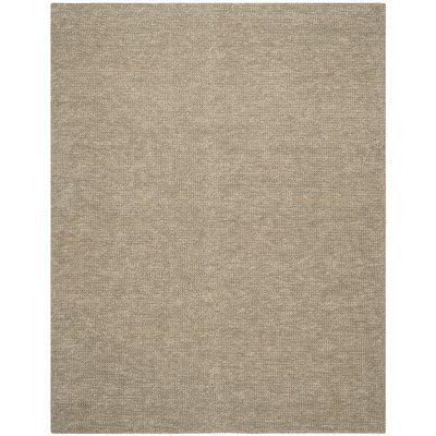 Nubby Tweed Hand woven Brown Area Rug Rug Size: 26 x 310