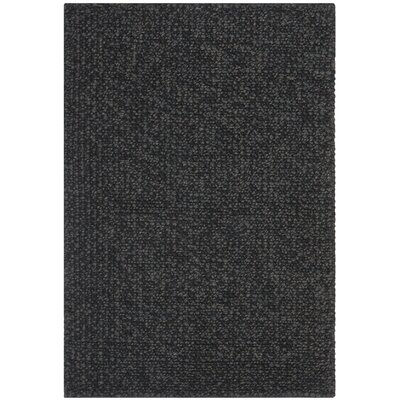 Nubby Tweed Ebony Area Rug Rug Size: Rectangle 26 x 310