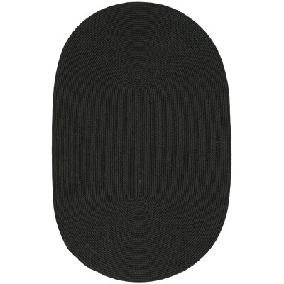 Winding Ebony Area Rug Rug Size: Oval 18 x 210