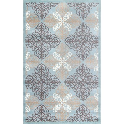 Pirouette RobinS Egg Area Rug Rug Size: Rectangle 8 x 10