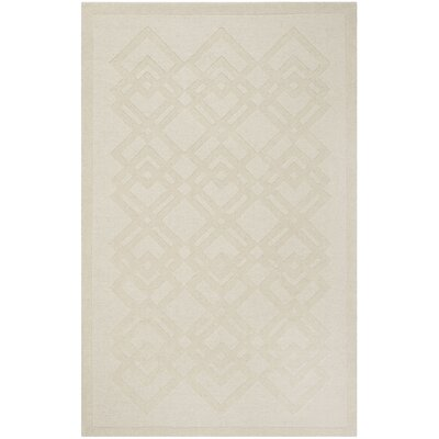 Viewpoint Carved Ivory Area Rug Rug Size: 5 x 8