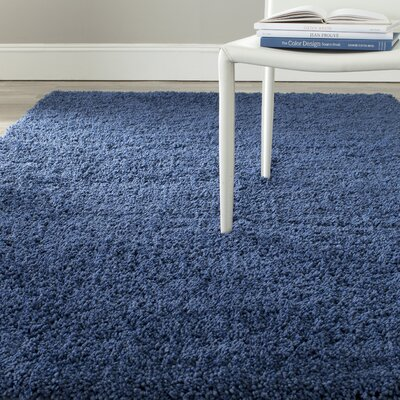 Soft Shag Ink Area Rug