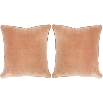 Velvet Dream Cotton Throw Pillow Color: Camel