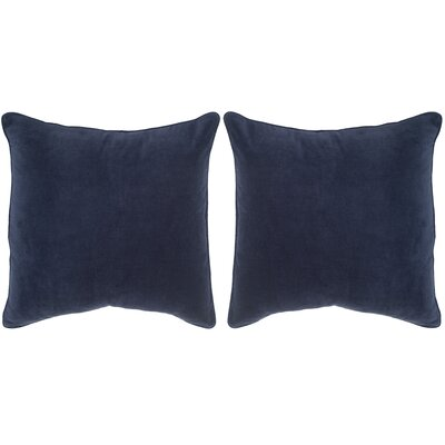 Velvet Dream Cotton Throw Pillow Color: Navy