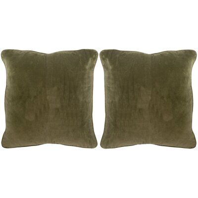 Velvet Dream Cotton Throw Pillow Color: Sage