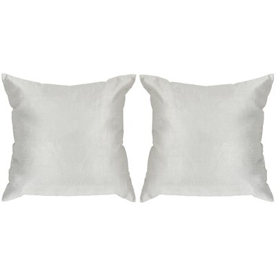 Luster Throw Pillow Color: Silver/Gray