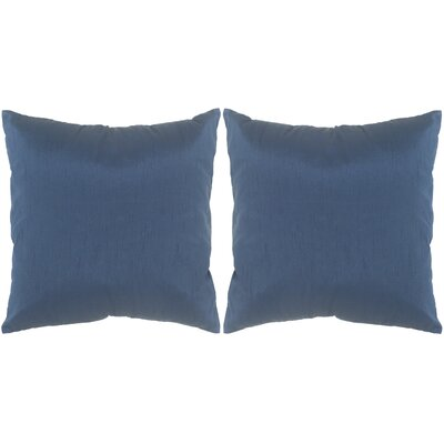 Luster Throw Pillow Color: Cobalt Blue