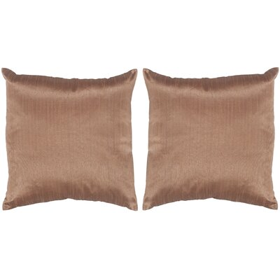 Luster Throw Pillow Color: Champagne