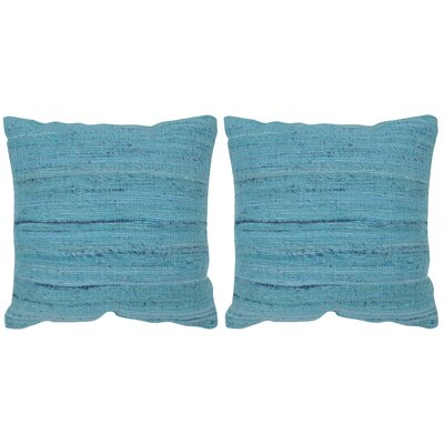 Eloise Throw Pillow Color: Brilliant Blue