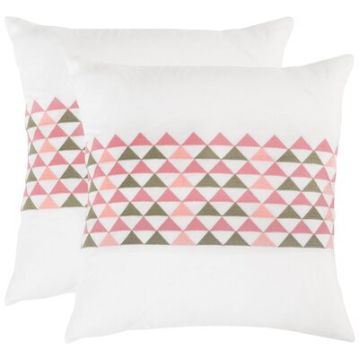 Geo Linen Throw Pillow Color: Multi