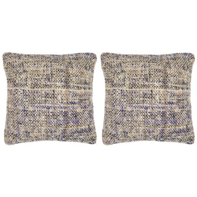 Carrie Silk Throw Pillow Color: Eggplant