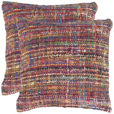 Carrie Silk Throw Pillow Color: Rainbow
