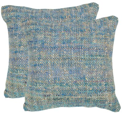 Carrie Silk Throw Pillow Color: Playful Blue