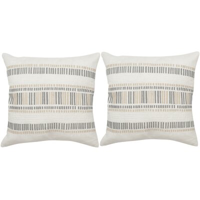 Linea Linen Throw Pillow Color: Cream Granite
