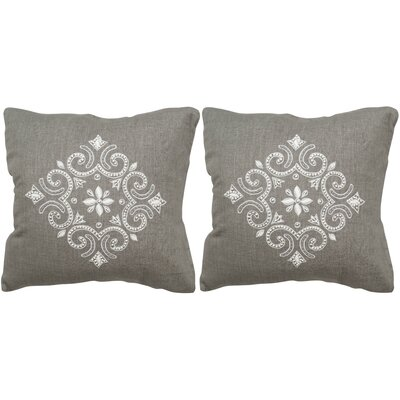 Regina Linen Throw Pillow Size: 20 H x 20 W x 2.5 D