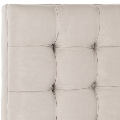Lamar Upholstered Panel Headboard Size: King, Upholstery: Taupe