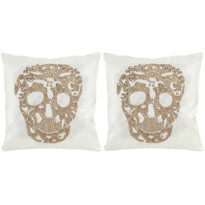 Punk Skull Cotton Throw Pillow