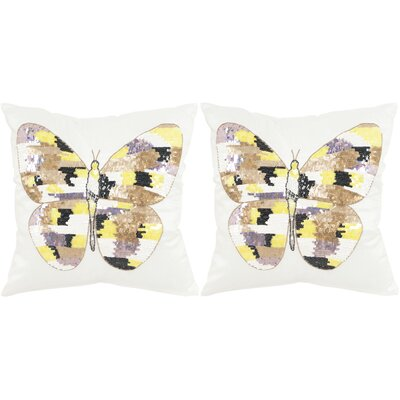 Papillon Cotton Throw Pillow