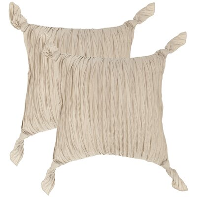 Ruche Knots Throw Pillow