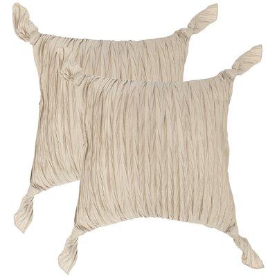 Ruche Knots Throw Pillow