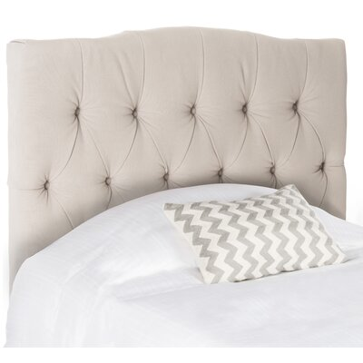 Axel Upholstered Panel Headboard Size: King