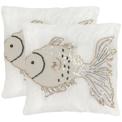 Kissy Fish Throw Pillow