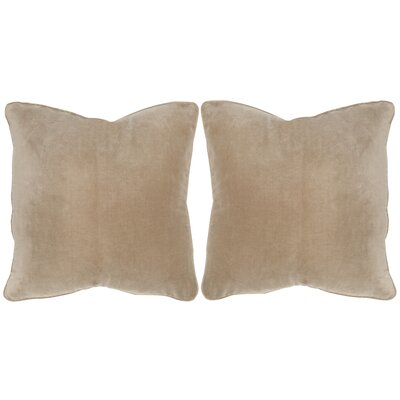 Velvet Dream Cotton Throw Pillow Color: Beige