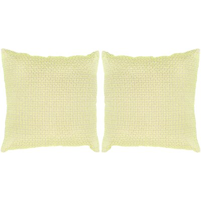 Box Stitch Throw Pillow Color: Neon Green