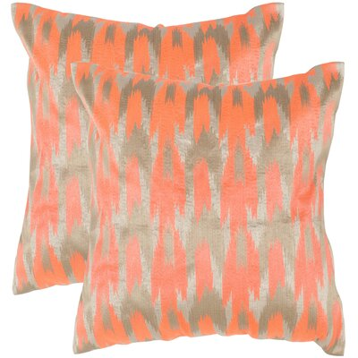 Boho Chic Throw Pillow Color: Neon Tangerine