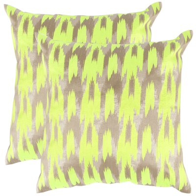 Boho Chic Throw Pillow Color: Neon Citrus
