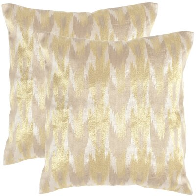 Boho Chic Throw Pillow Color: Metallic Earth